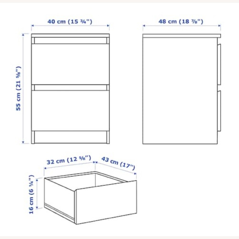 IKEA Malm White Nightstand - image-3