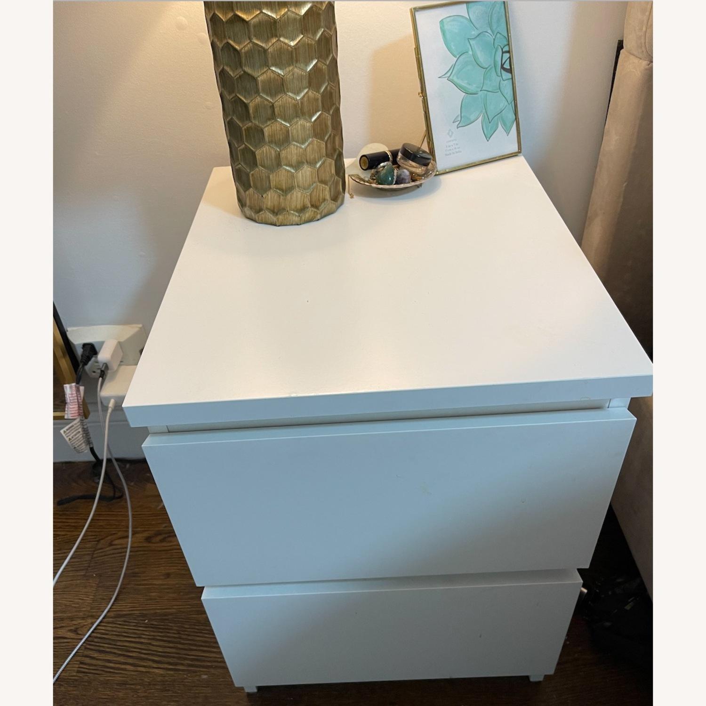 IKEA Malm White Nightstand - image-5