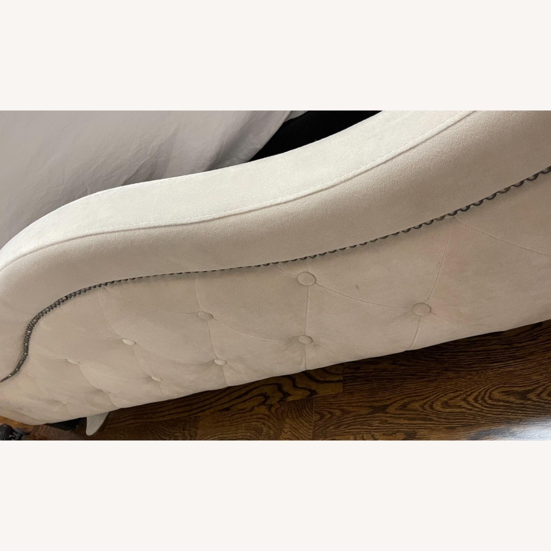 Bob's Upholstered Beige Studded Queen Bed Frame - image-5