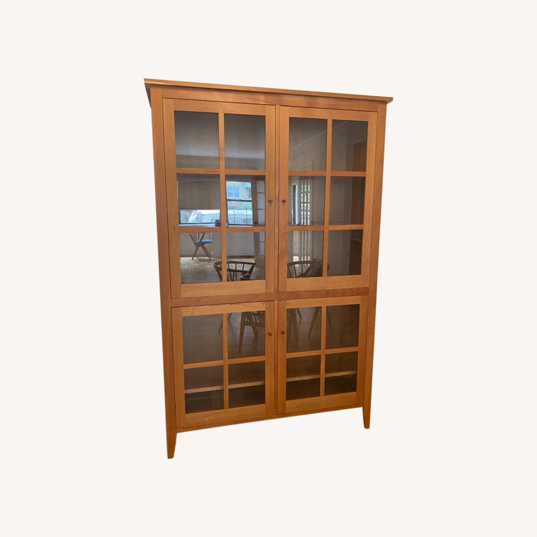 Room & Board Adams Glass Door Cabinet in Cherry - image-0