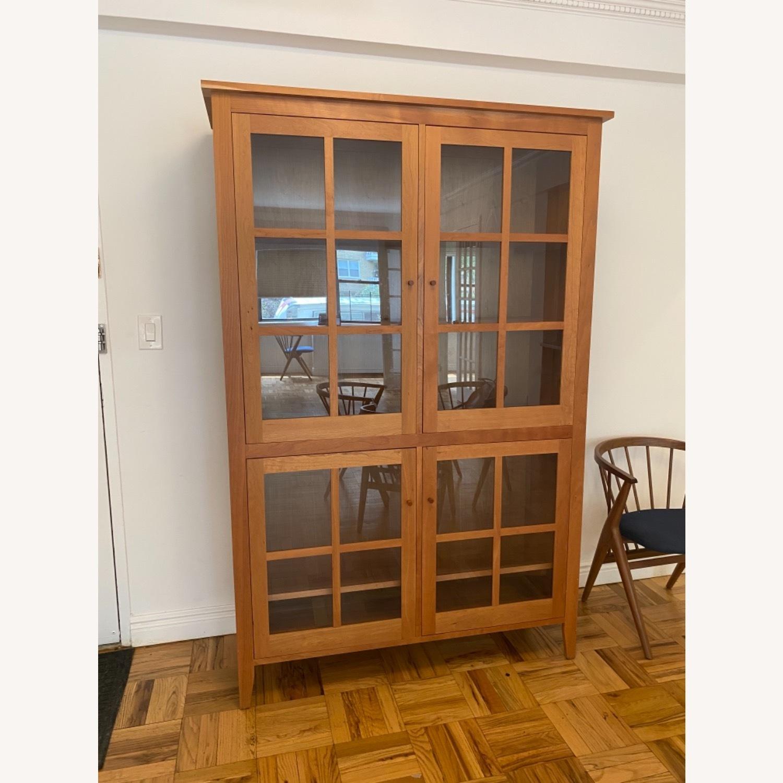 Room & Board Adams Glass Door Cabinet in Cherry - image-5