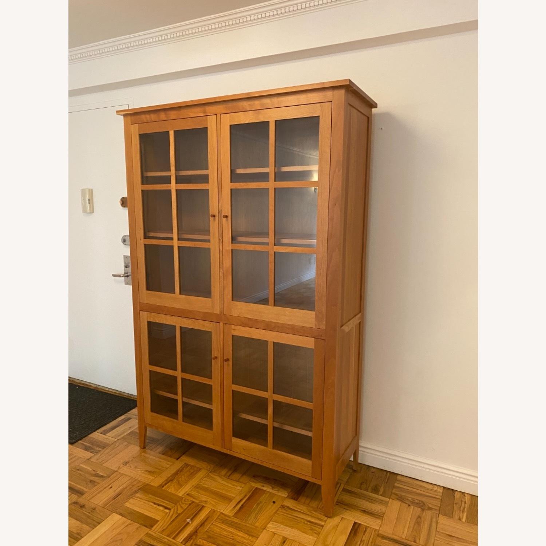 Room & Board Adams Glass Door Cabinet in Cherry - image-1