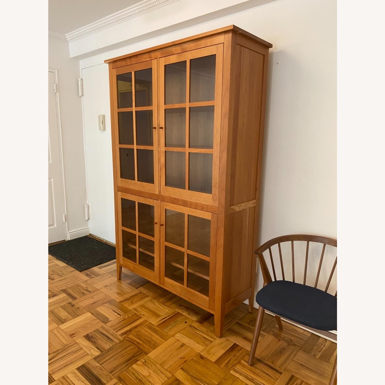 Room & Board Adams Glass Door Cabinet in Cherry - image-7