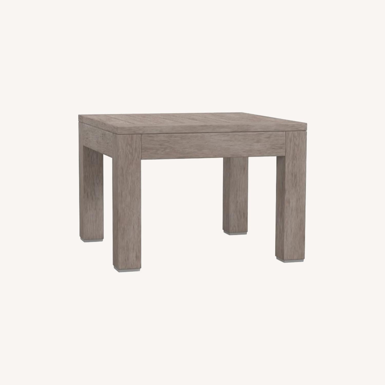 Pottery Barn Indio Wood Side Table, Gray Driftwood - image-0