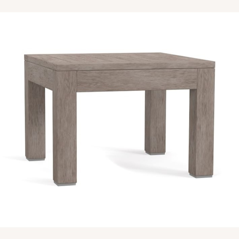 Pottery Barn Indio Wood Side Table, Gray Driftwood - image-3
