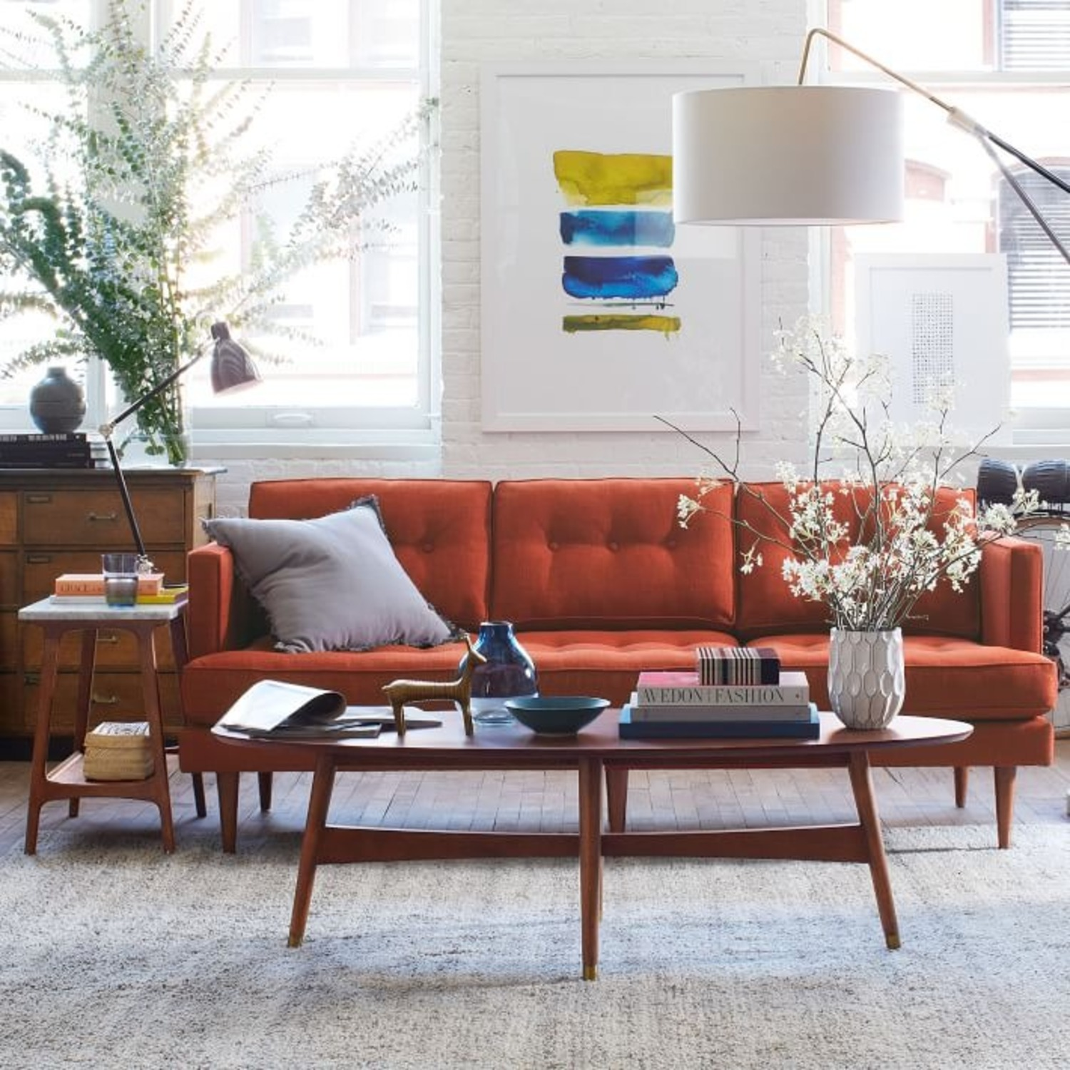 West Elm Reeve Side Table Long Narrow - image-1