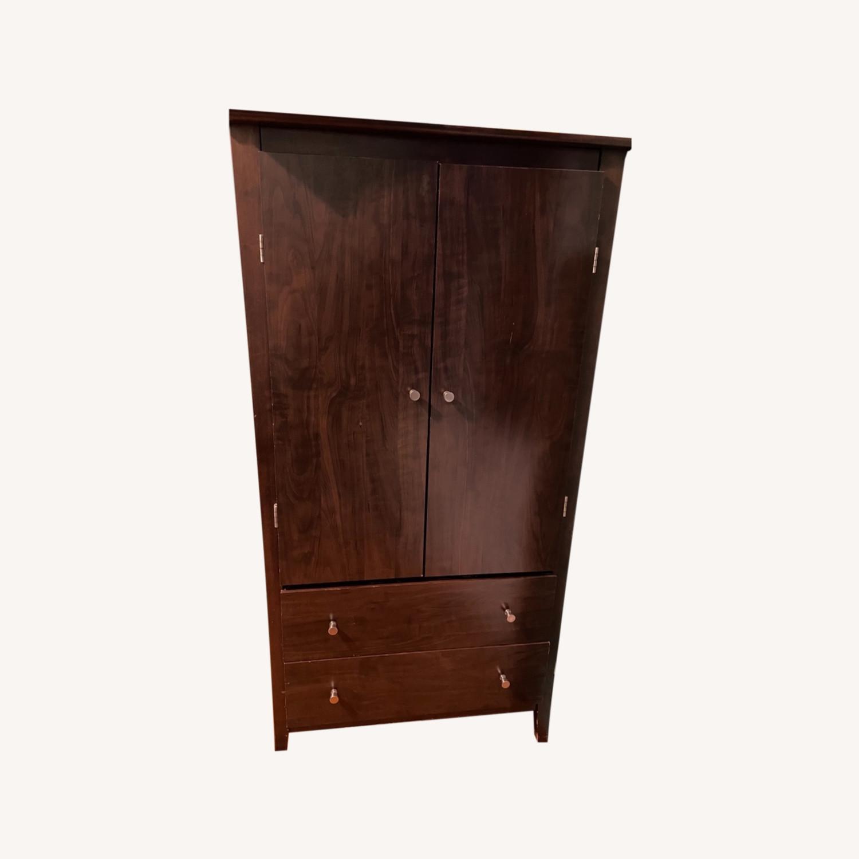 Warderobe Wooden Dark Brown - image-0