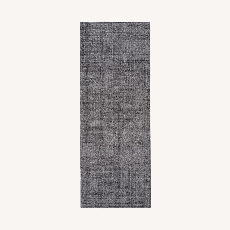West Elm Patina Rug, 2.5x7, Asphalt - image-0