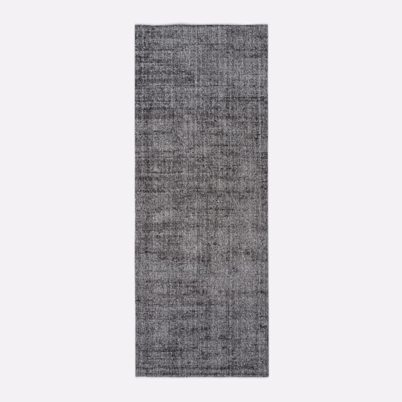 West Elm Patina Rug, 2.5x7, Asphalt - image-1