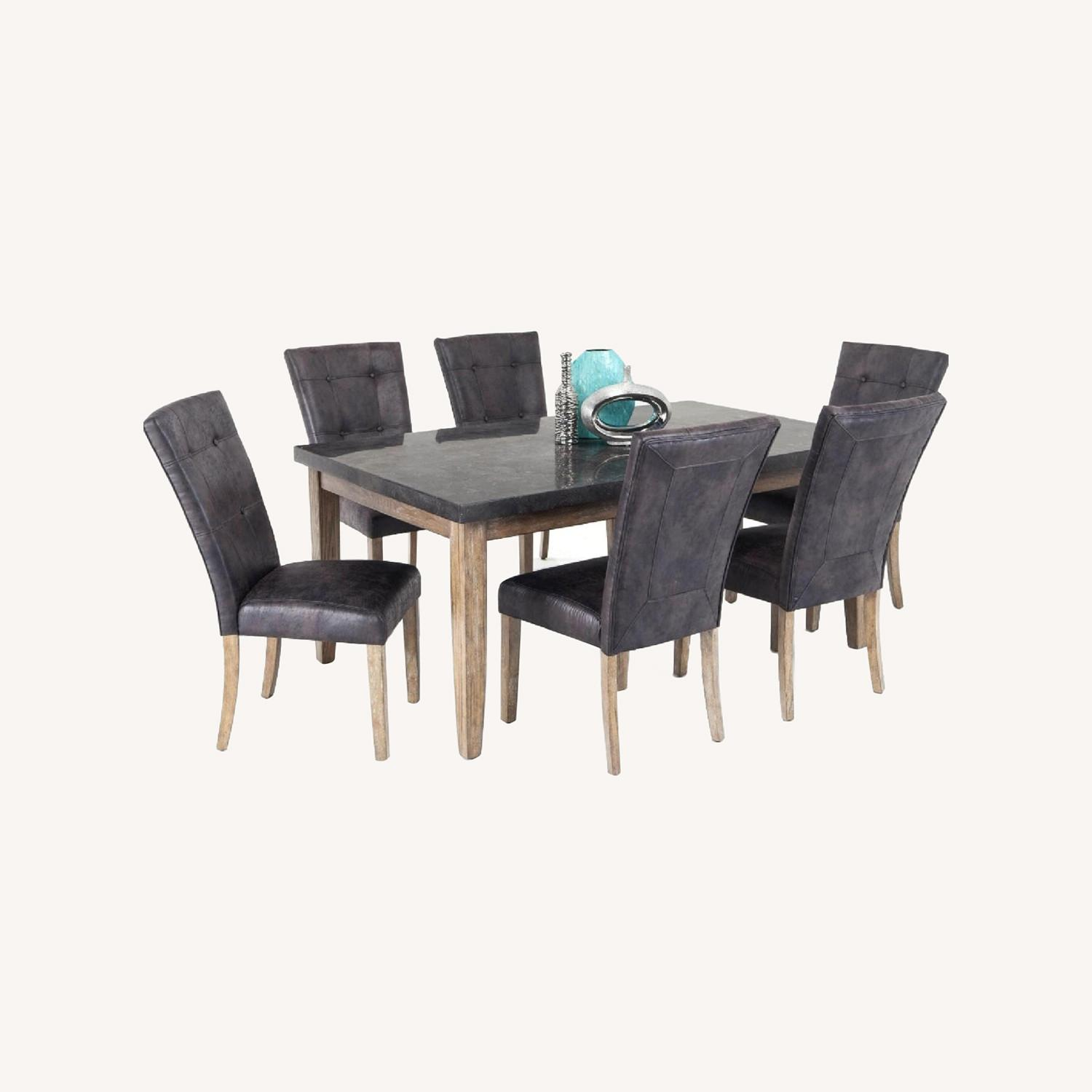 Bob's Discount Granite Table Dining Set with 6 Chairs - image-0