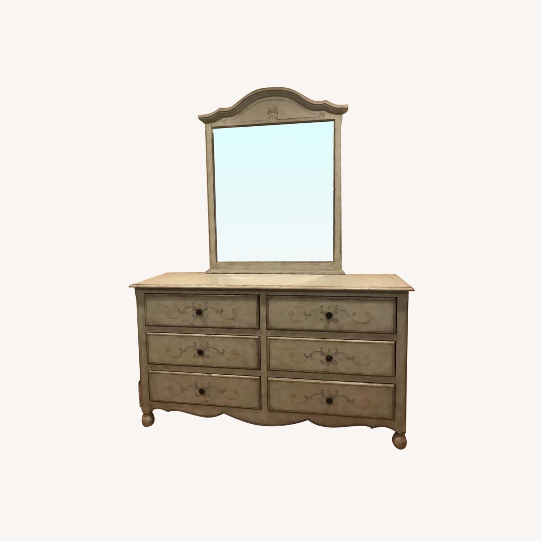 Fortunoff 6 Drawer Dresser with Mirror - image-0