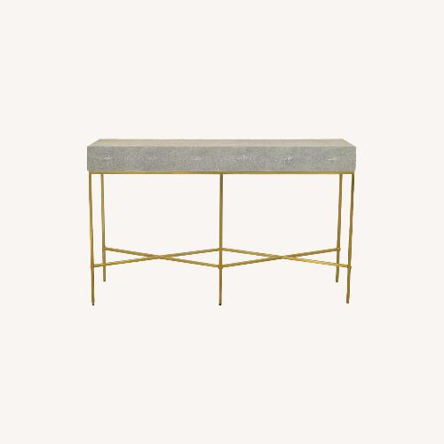Used William Sonoma Home Faux Shagreen Console for sale on AptDeco