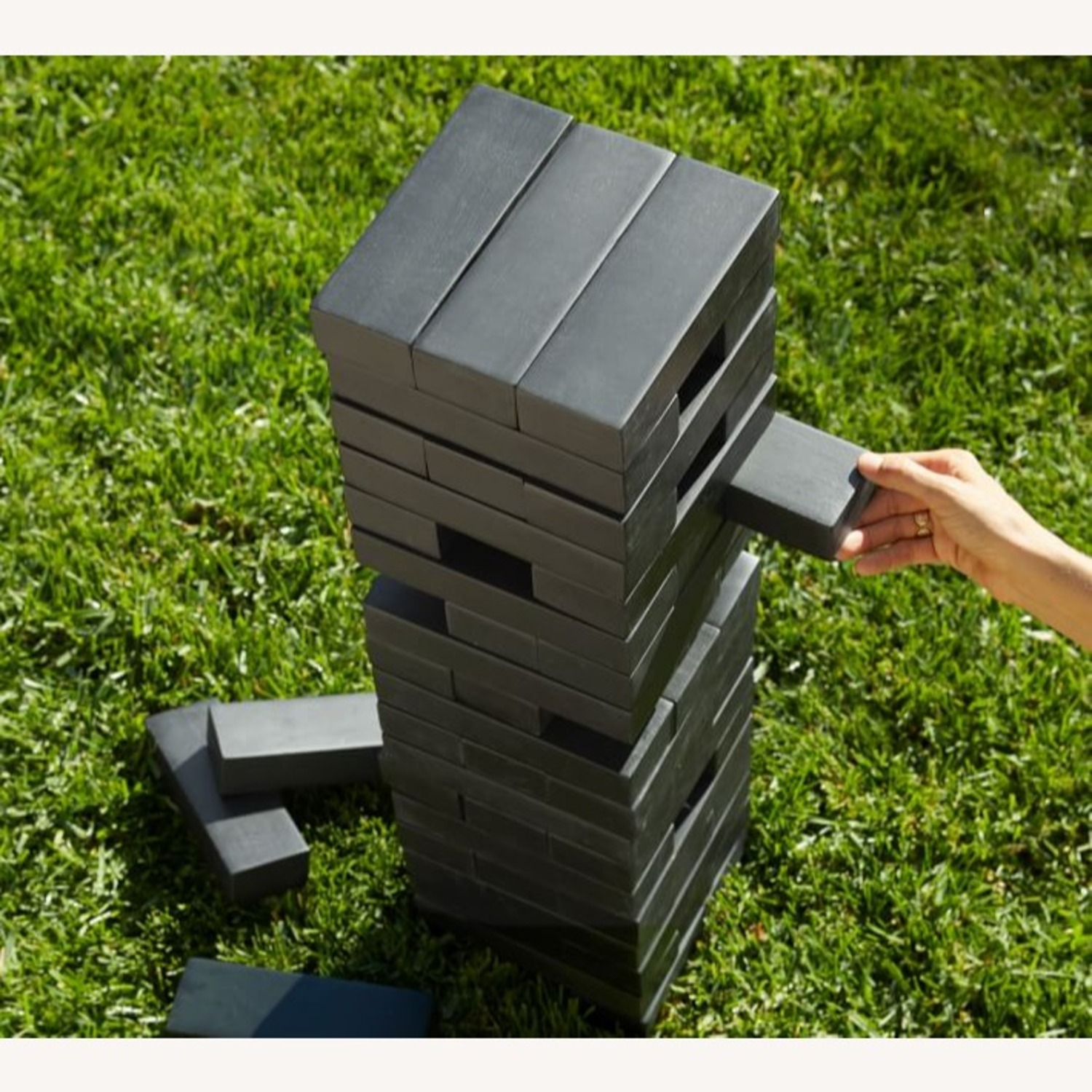 Pottery Barn Outdoor Xl Tumbling Tower,Black - image-3