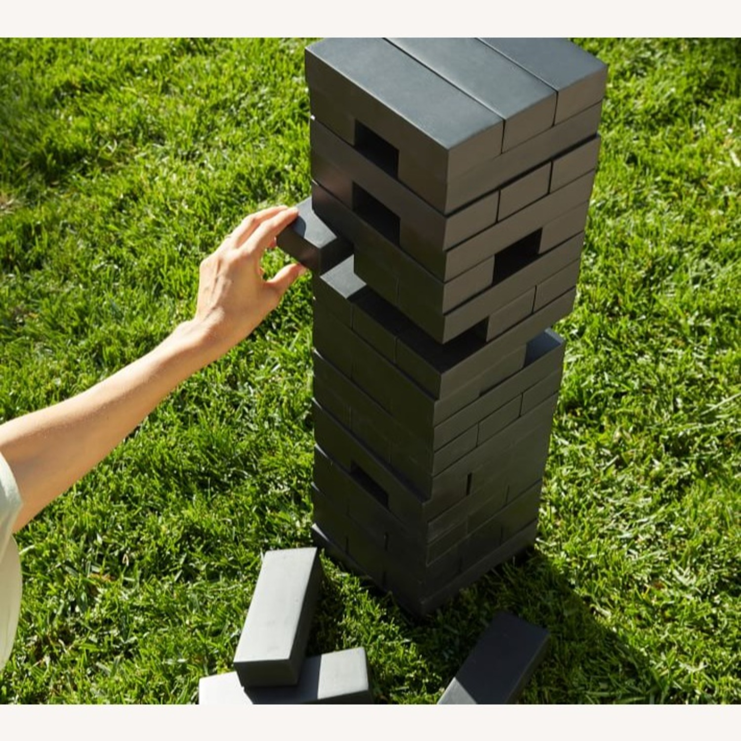 Pottery Barn Outdoor Xl Tumbling Tower,Black - image-1
