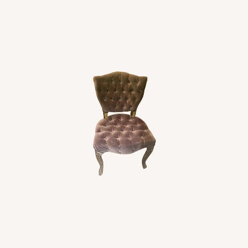 Used 4 Classic Style Dark Purple Velvet Dining Chairs for sale on AptDeco