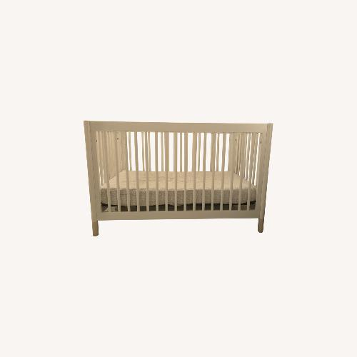 Used Babyletto White Crib and Toddler Bed for sale on AptDeco