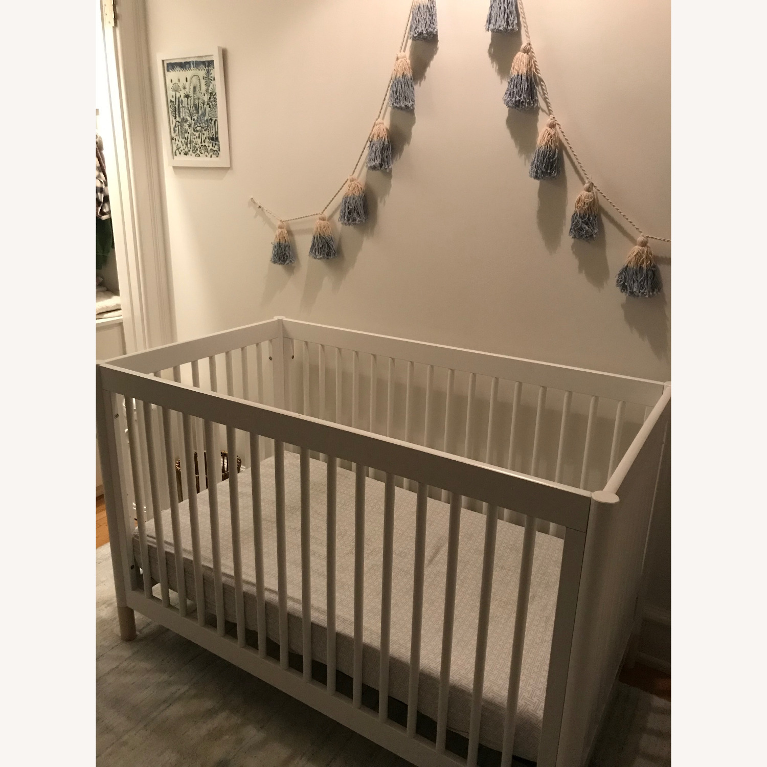 Babyletto White Crib and Toddler Bed - image-5