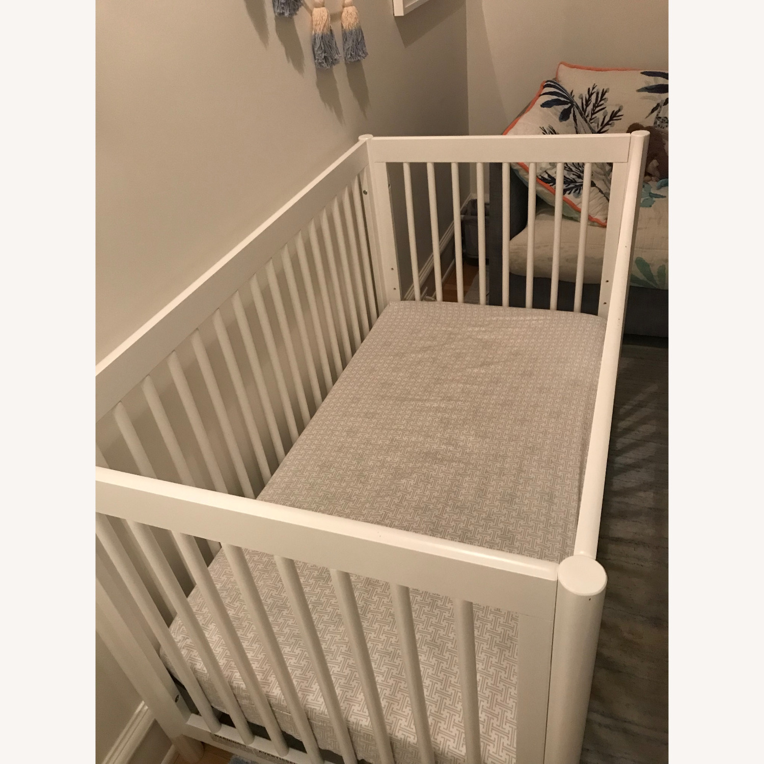 Babyletto White Crib and Toddler Bed - image-3