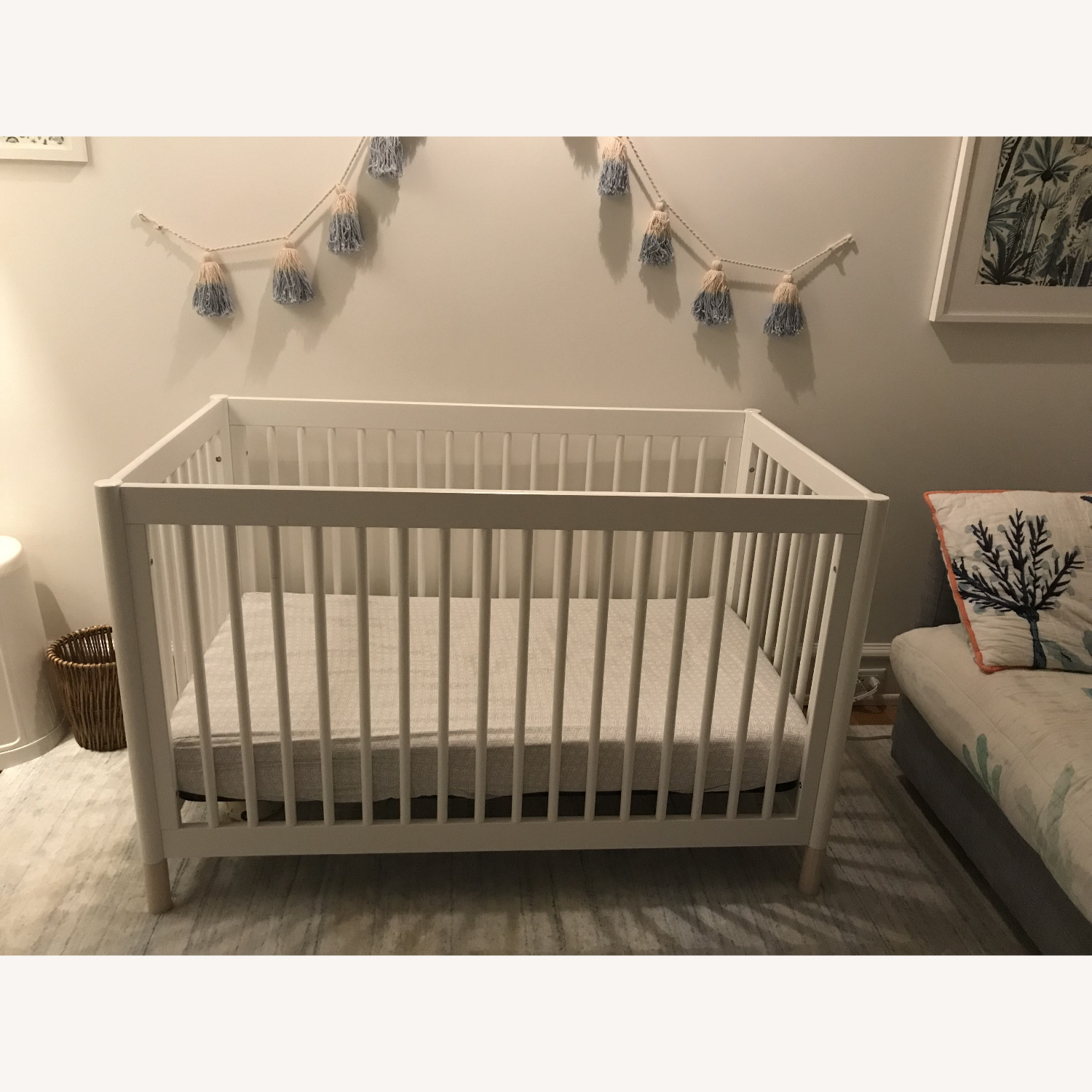 Babyletto White Crib and Toddler Bed - image-2