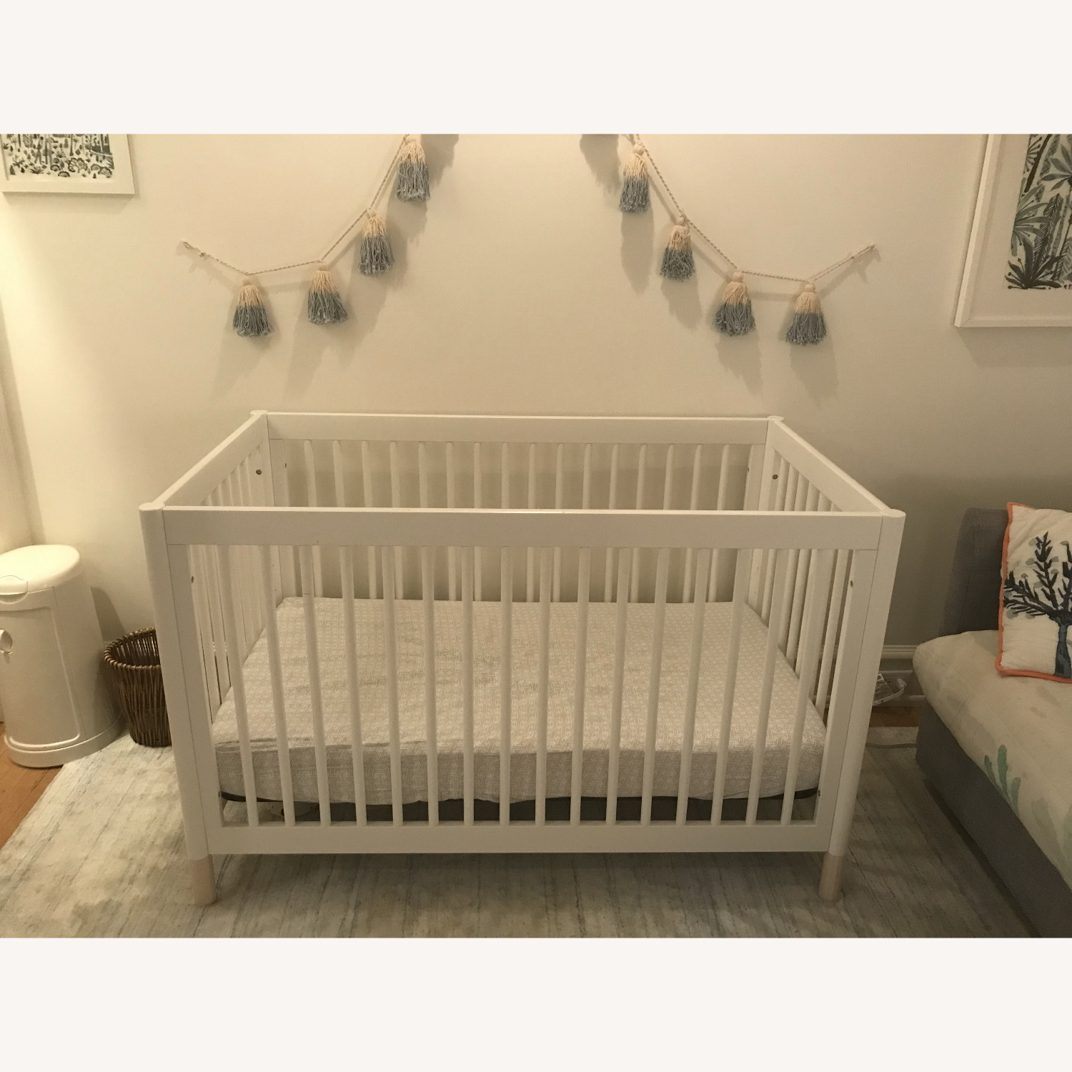 Babyletto White Crib and Toddler Bed - image-6