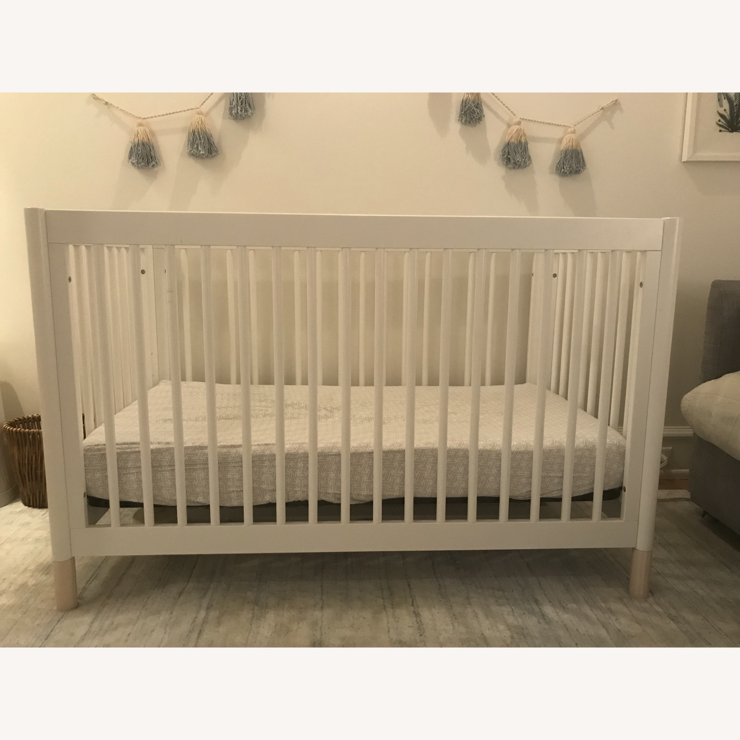 Babyletto White Crib and Toddler Bed - image-1