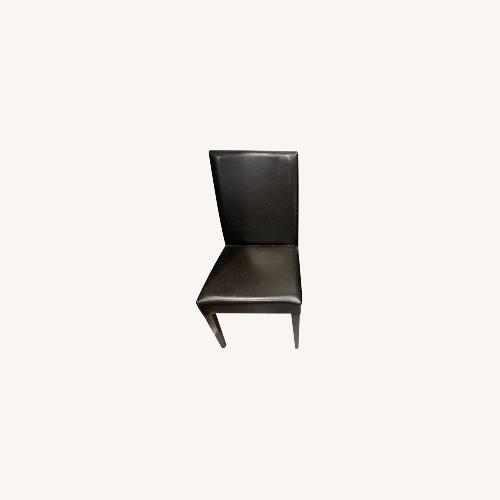 Used The Door Store Duke Modern Leather Dining Chairs (Set of 2) for sale on AptDeco