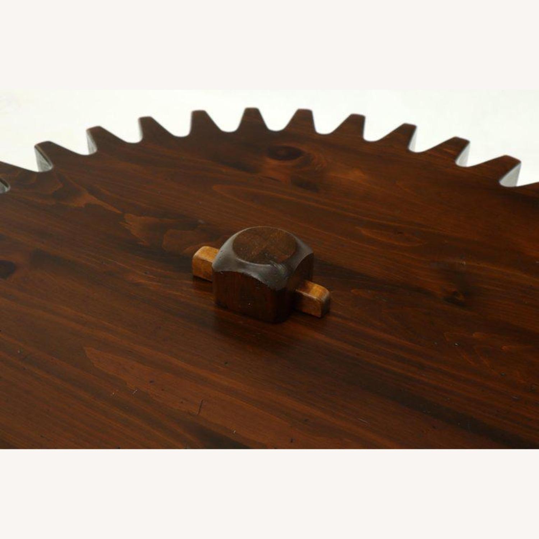 Ethan Allen Antique Round Cog Sprock Gear Coffee Table - image-8