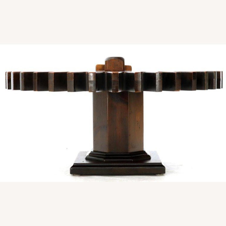 Ethan Allen Antique Round Cog Sprock Gear Coffee Table - image-12