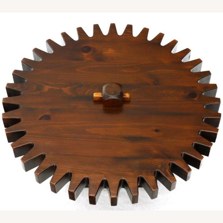 Ethan Allen Antique Round Cog Sprock Gear Coffee Table - image-10