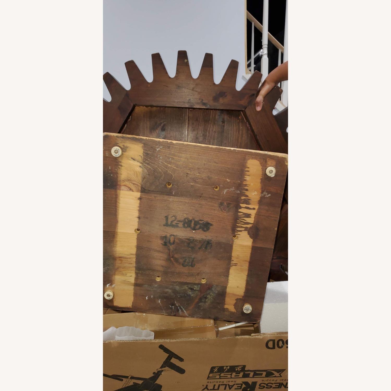 Ethan Allen Antique Round Cog Sprock Gear Coffee Table - image-2