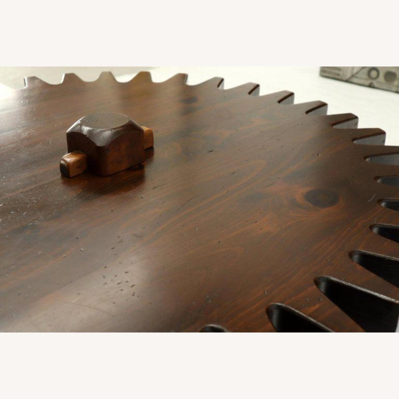 Ethan Allen Antique Round Cog Sprock Gear Coffee Table - image-7