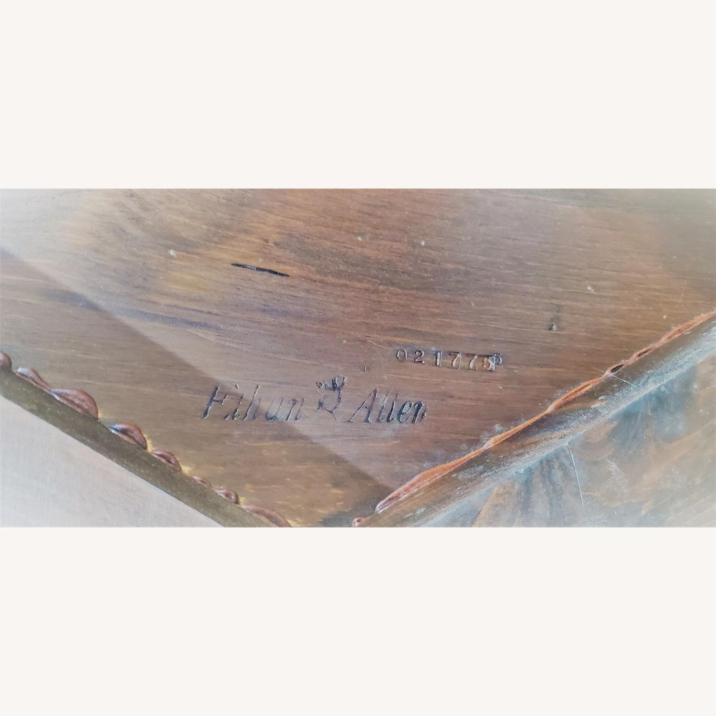 Ethan Allen Antique Round Cog Sprock Gear Coffee Table - image-5