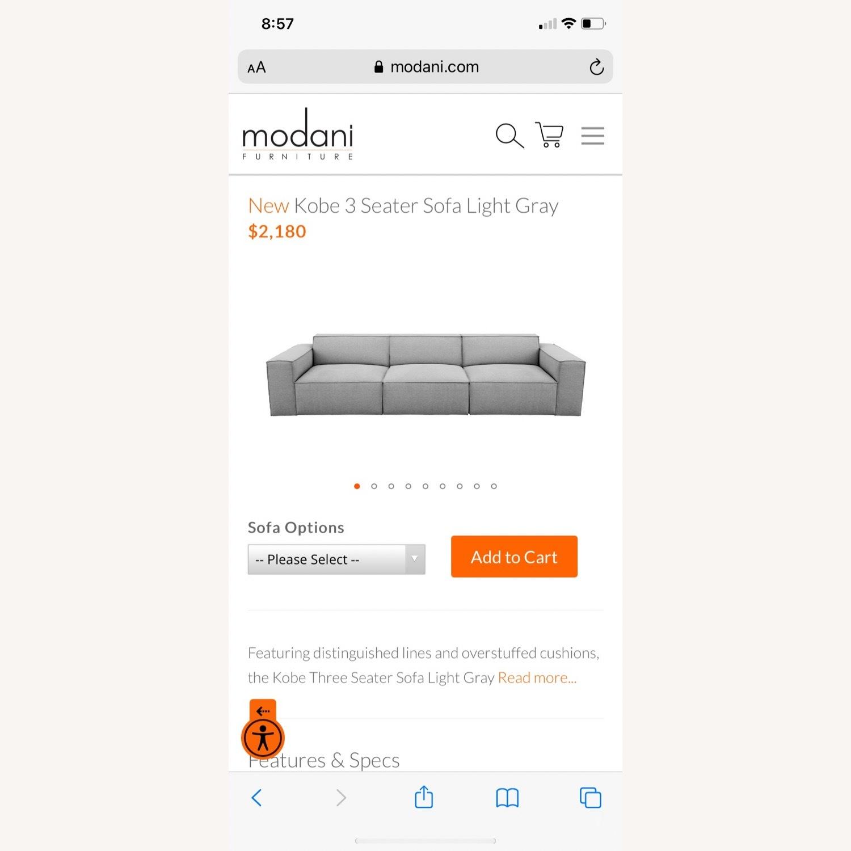 Modani Kobe 3 Seater Sofa Light Gray - image-1