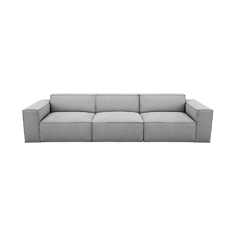 Modani Kobe 3 Seater Sofa Light Gray - image-4