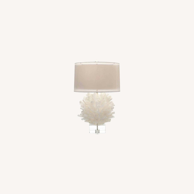 John Richard Selenite Table Lamp - image-0