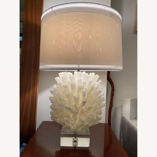 Used John Richard Selenite Table Lamp for sale on AptDeco