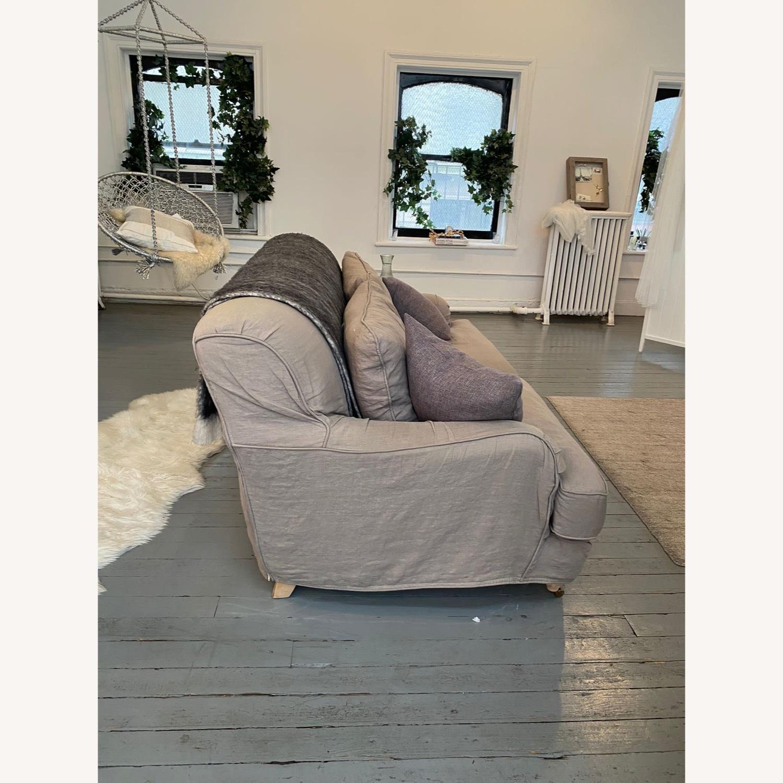Shabby Chic Rachel Ashwell Gray Linen Sofa - image-3
