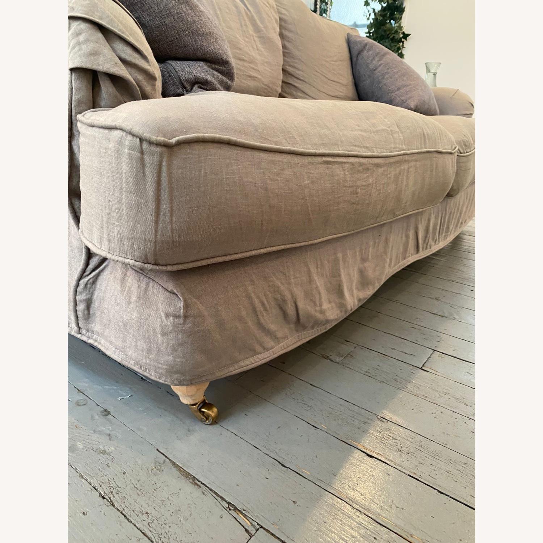 Shabby Chic Rachel Ashwell Gray Linen Sofa - image-4