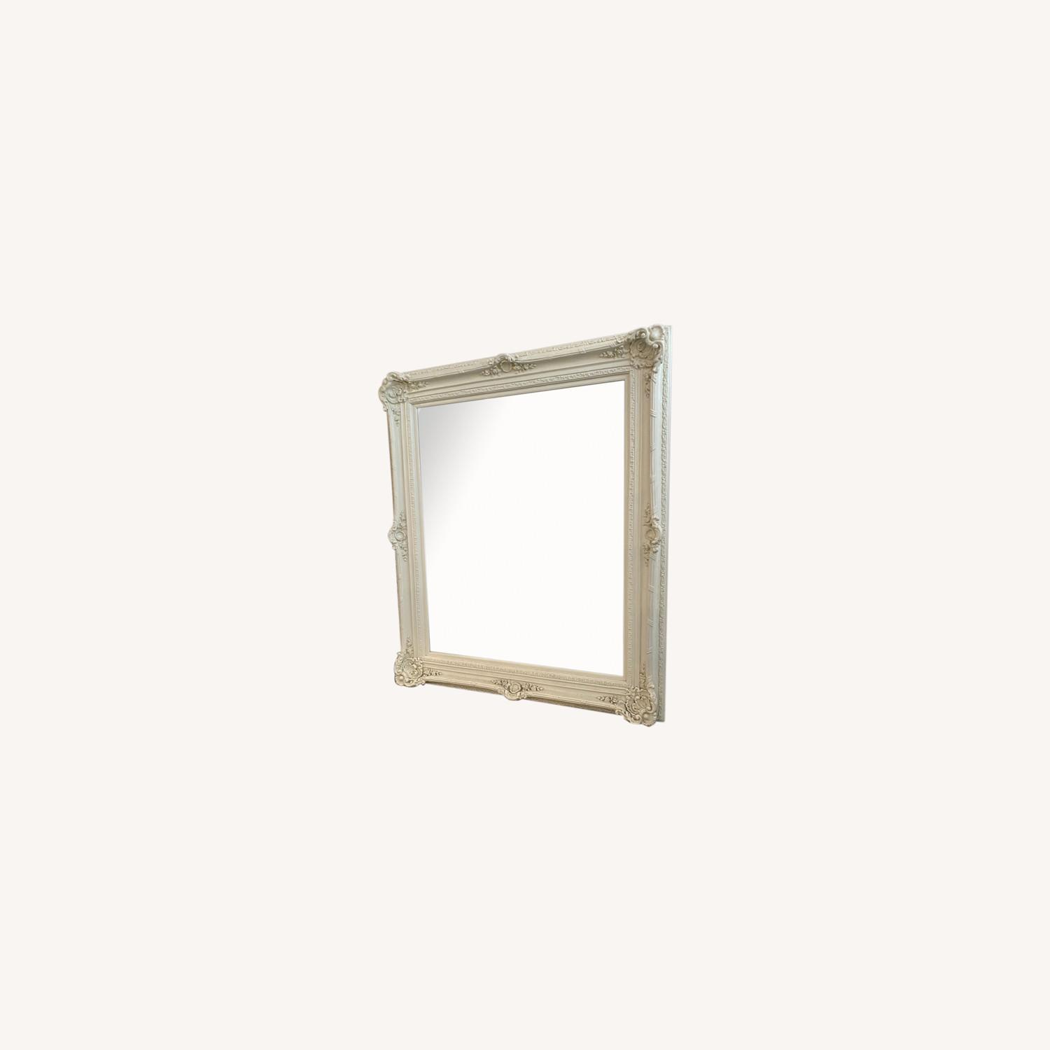 Shabby Chic Carved Ornate French White Mirror - image-0