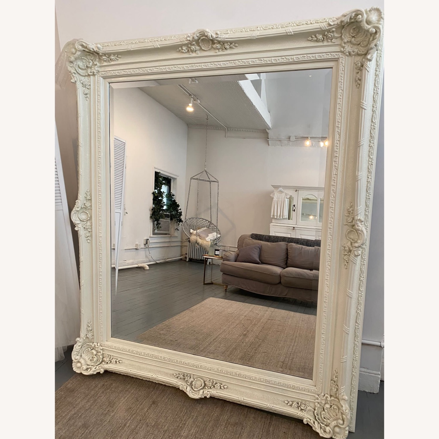 Shabby Chic Carved Ornate French White Mirror - image-2