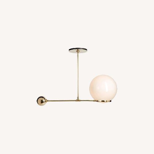 "Used Rejuvenation O&G Contrapesso 18"" Globe LED Pendant Lamp for sale on AptDeco"