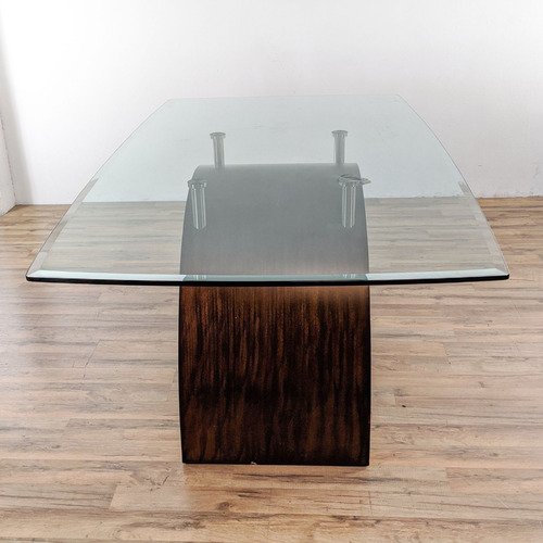 Used O-Palier Glass Top Dining Table for sale on AptDeco