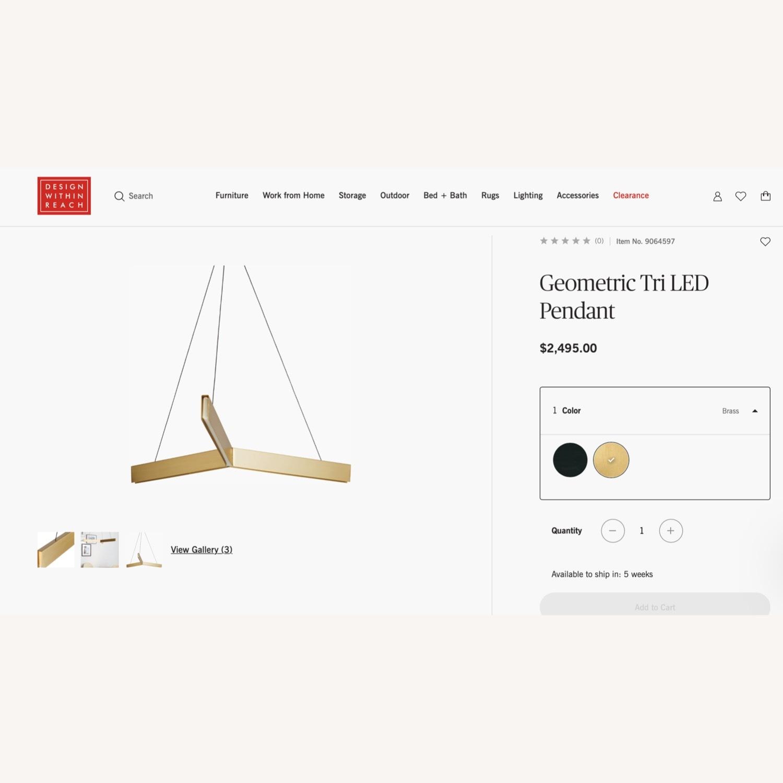Design Within Reach Geometric Tri LED Pendant Lights - image-1