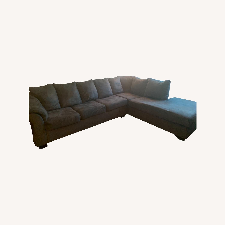 Bob's Discount Gray Sofa - image-0