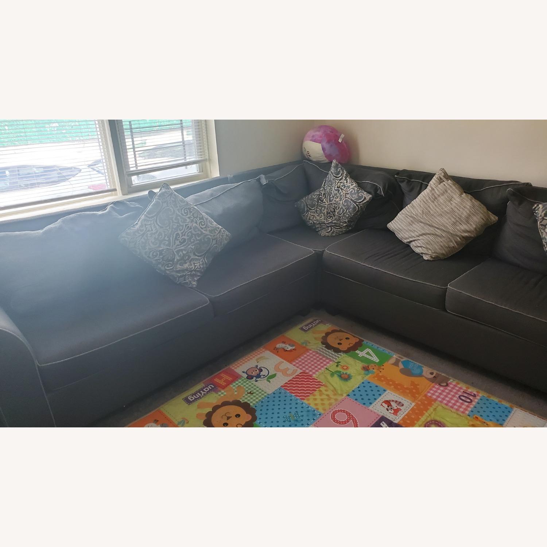 Bob's Discount Gray Sofa - image-2