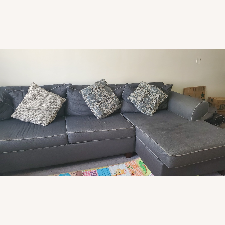 Bob's Discount Gray Sofa - image-3