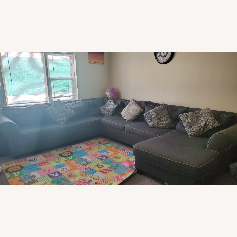 Bob's Discount Gray Sofa - image-1