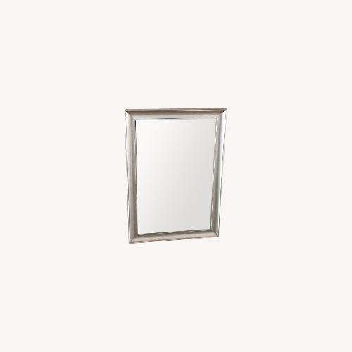Used CORT Contemporary Silver Framed Mirror for sale on AptDeco