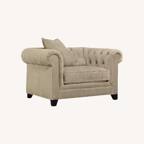 Used Martha Stewart Saybridge Bella Cocoa Tan Chair for sale on AptDeco