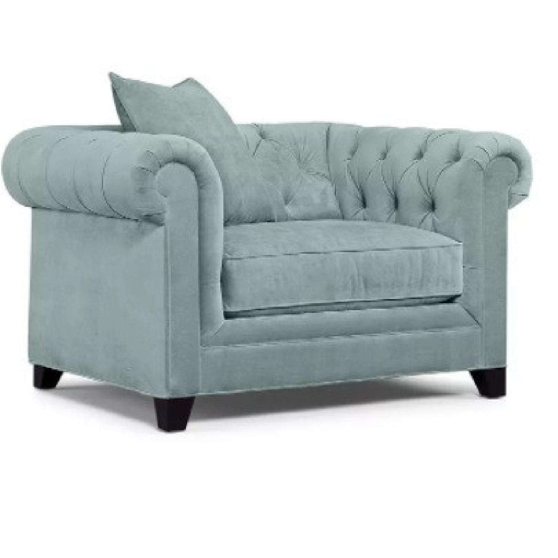Martha Stewart Saybridge Cornflower Blue Chair - image-4
